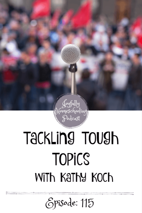 Our world is literally falling apart at the seams it feels like. And that is why today I am chatting with Dr. Kathy Koch on tackling tough topics with kids.