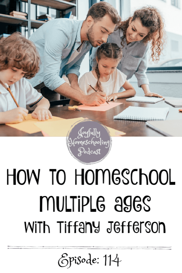 Do you wonder how in the world you can homeschool multiple ages? In this podcast episode I am chatting with Tiffany Jefferson, homeschool mom of ten about this topic, curriculum, and so much more!