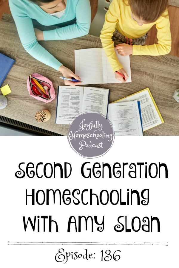 Have you ever wondered what it is like to be a second-generation homeschooler? In this episode I am chatting with Amy Sloan about homeschooling, being homeschooled, changes her family have seen through the years in homeschooling (good and bad) and so much more!